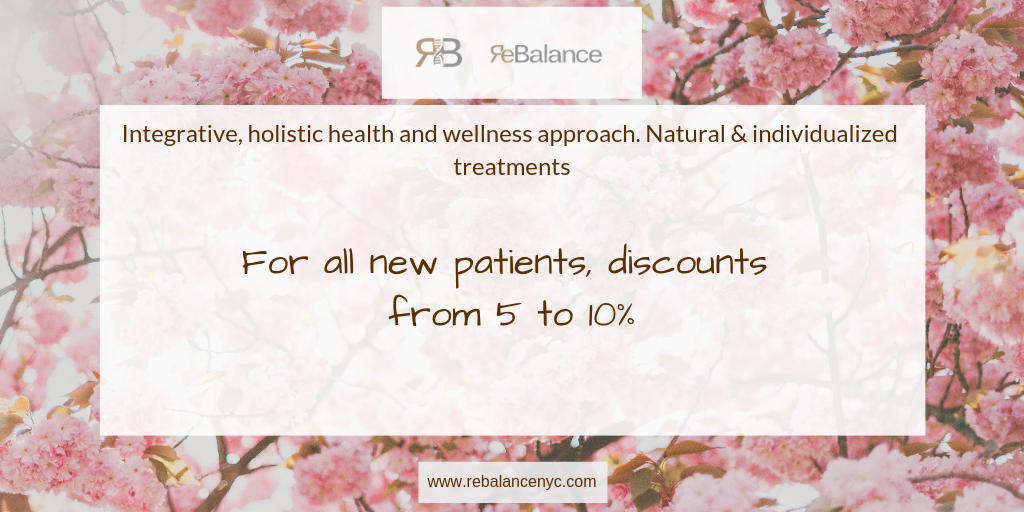 Discount from ReBalance NYC for all new patients
