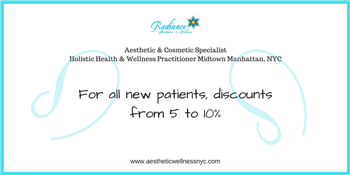 Discount from Radiance Aesthetics & Wellness for all new patients | Radiance Aesthetics & Wellness